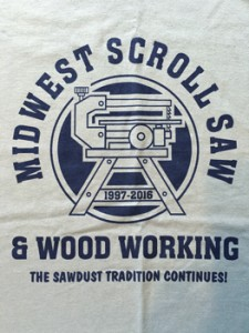 Midwsest Scroll Saw & Woodworking Trade Show 2016 T-Shirt